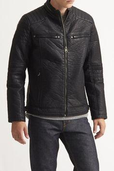 Turtle Faux Leather Moto Jacket - Buffalo David Bitton - Jackets & Outerwear : JackThreads