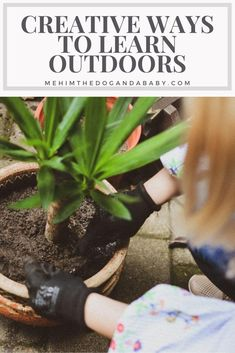 Creative Ways To Learn Outdoors #Garden #Outdoors #Education