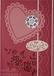 une carte rouge amour