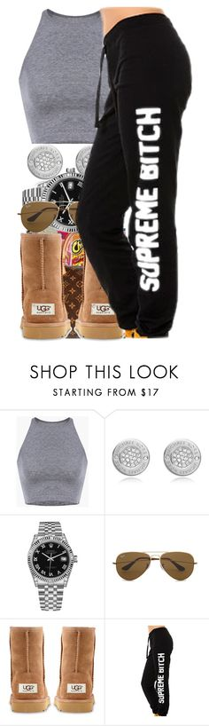 """""""• Lazy Day • Contest • Set #1 •"""" by sarajordan2993 on Polyvore featuring xO Design, Michael Kors, Rolex, Ray-Ban and UGG Australia"""