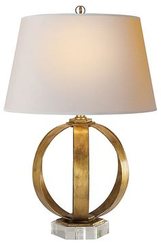 One Kings Lane - Bright Ideas - Christopher Banded Table Lamp