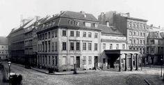 1887 Berlin - Petriplatz in Berlin-Mitte, Ecke Scharrenstraße mit dem Gebäude der Ratswaage.