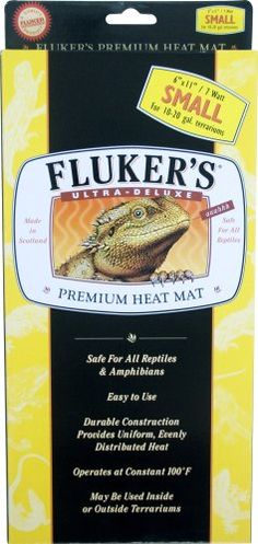 $17.14-$29.99 Fluker's Ultra Deluxe Premium Heat Mat, Small (6 x 11 inches) - Fluker's Heat Mat operates at a constant 100F. Durable construction provides uniform, evenly distributed heat. http://www.amazon.com/dp/B00164PW7U/?tag=pin2pet-20