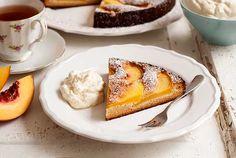 Gluten Free Grain Free Peach Tart Recipe #Simplyglutenfree #Glutenfree