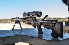 Ridiculous Linux powered rifle fires either a  .300 WinMag or a .338 Lapua Magnum. The article informs you that with this rifle a first time shooter can hit a target at 1200 yards.