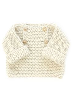 Step-By-Step Baby Cardigan - Diy Crafts Baby Knitting Patterns, Knitting For Kids, Crochet For Kids, Baby Patterns, Knit Crochet, Knitted Baby, Baby Outfits, Kids Outfits, Pull Bebe