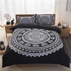 Bohemian bedding set Black