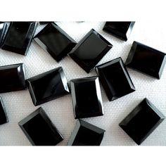 Black Onyx   AAA Rectangular Shaped Black Onyx by gemsforjewels, $26.70