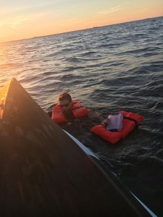 Saved by the Jacket (NC): All five people were reportedly wearing life jackets and clinging to the capsized boat.