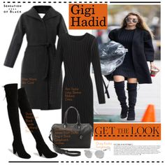 A fashion look from November 2015 by hamaly featuring Ann Taylor, MaxMara, Stuart Weitzman, Elizabeth and James, Vision, Anja, GetTheLook, StreetStyle, allblack...