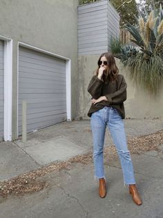 Street style denim jeans