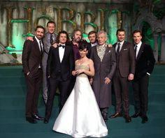 Luke Pace, Luke Evans, Orlando Bloom, Peter Jackson, Martin Freeman, Sir Ian McKellen, Richard Armitage, Benedict Cumberbatch y Evangeline Lilly