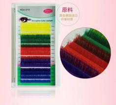 """הצפנת צבע אורך תמהיל ריסים ריסים מלאכותיים 0.15 מ""""מ c הארכת ריסים איפור ריסים מלאכותיים צבעוניים"""