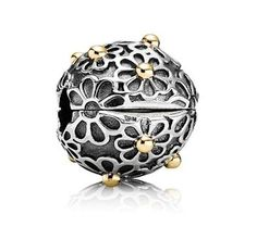 14ct Or Marguerite Agrafe Pandora Charms - 14ct Or Marguerite Agrafe Pandora Charms-31