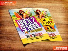 Back to School Flyer Template PSD by Industrykidz