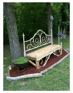 Bed frame / outdoor bench