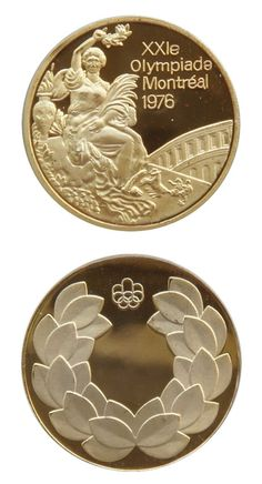 1976 Montreal Quebec Canada Summer Olympics medal