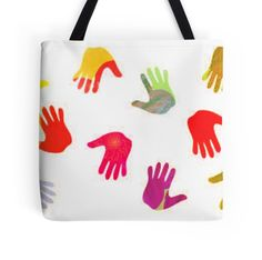 Colorful Hands Totebags