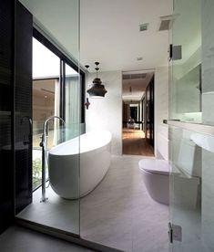 Square, Modern Style House in Bangkok minimalistic house interior 3
