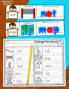 This is a quick, easy to prep activity to help students practice phoneme substitution and CVC words by changing the middle vowel sounds in words. Students will learn to manipulate spoken words by substituting the vowel sounds to make a new word. Students read the CVC word on the card and then change the middle vowel sound to spell a new word that matches the picture. They can use magnetic letters or a dry erase marker to show the word.