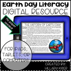 As teachers, we are all trying to add more technology into our daily routines in the classroom. I have created an Earth Day Digital Unit! This Digital Unit Includes:-a reading passage-open ended questions-KWL form-alphabetical order sort-helpful or harmful sort-word work-poetry writing-main idea and details graphic organizer-author's purpose graphic organizerWhen you download this product, it will take you to a link.