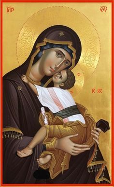 Byzantine Icons, Byzantine Art, Christ The Good Shepherd, Madonna And Child, Orthodox Icons, Mother Mary, Virgin Mary, Our Lady, Art Pieces