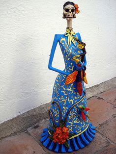 Catrina Azul de Frida Kahlo. | Flickr - Photo Sharing!