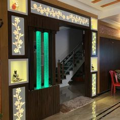 unit With Mandir Room Partition Wall, Living Room Partition Design, Pooja Room Door Design, Room Partition Designs, Living Room Tv Unit Designs, Living Room Sofa Design, Bedroom Furniture Design, Home Room Design, Living Room Divider