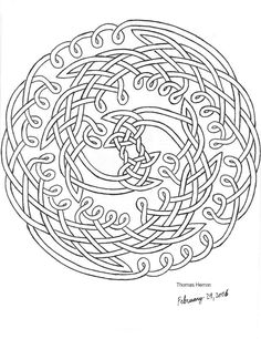 printable celtic coloring pages second hand drawn celtic knot by ceramicsmaster on deviantart
