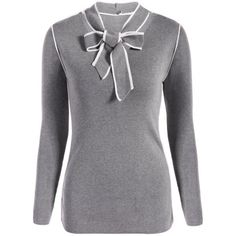 19.92$  Buy now - http://dia3y.justgood.pw/go.php?t=206899904 - Bow Collar Long Sleeve Knitwear 19.92$
