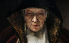 .:. Old Woman Reading, Rembrandt, 1655. Symbol of education & concentration