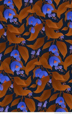 Tropical Gardern Patterns by Tetiana Kartasheva, via Behance