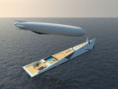 This Superyacht Is Designed to Carry an Aircraft Float Your Boat, Yacht Design, Super Yachts, Private Jet, Transportation Design, Water Crafts, Zeppelin, Dares, Us Travel
