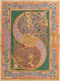 Lettrine from Gero Codex, Reichenau Abbey, c. 969. http://bibliodyssey.blogspot.ca/2007/03/gero-codex.html