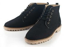 Black Round-Toe Boots by Sole Service PH <3
