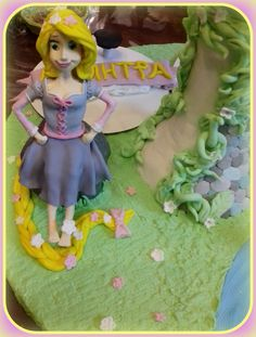 Rapunzel tangled tower birthday cake4!! Τούρτα Rapunzel4!!