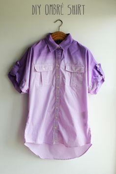 diy: ombre dip dye shirt  #ombre #diy #dye #fashion #dipdye