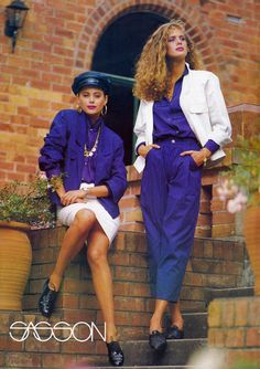 RACHEL HUNTER & BRIGETTE BERGER  Sasson    1986