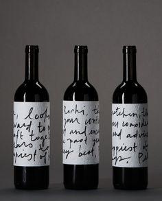 handwritten wine labels #wine #packaging
