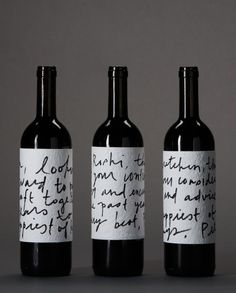 handwritten wine labels #wine #packaging