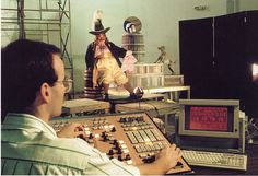 "The above and following pictures show the Imagineers at work on the AA programming at Disneyland Paris version of ""Pirates"""