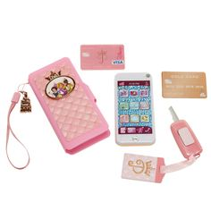 Price: (as of - Details) The Disney Princess style collection wristlet comes complete with play Smartphone and wallet case, key fob, and play credit c Little Girl Toys, Baby Girl Toys, Baby Dolls, Makeup For Little Girls, Poupées Our Generation, Disney Princess Gifts, Baby Doll Accessories, Lol Dolls, Princess Style