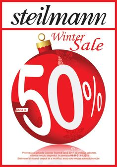 """Steilmann Winter Sale Am dat startul reducerilor de final de sezon! Va asteptam in magazine cu discount de """"pana la 50%""""! #wintersale#steilmann #steilmann Winter Sale, Mall, Logos, Logo, Template"""