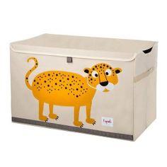 Uzavíratelná bedýnka na hračky - leopard