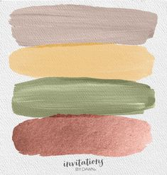The Perfect Palette: Mushroom, Butter, Olive & Rose Gold
