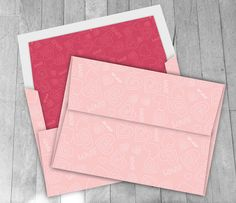 Digital A7 Envelope: Valentine's Day  Pink & Red by VizualStorm
