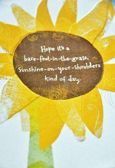 sunshiny day
