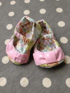 Pink Blue Green and Orange Floral Mary Jane Baby by Polkadotologie, $15.00