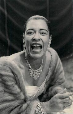 """BILLIE HOLIDAY, Billie Holiday was an American jazz singer and songwriter. Nicknamed """"Lady Day"""" by her friend and musical partner Lester Young, Holiday had a seminal influence on jazz and pop singing. Billie Holiday, Jazz Artists, Jazz Musicians, Parisienne Chic, Blues Rock, Newport Jazz Festival, Divas, Lady Sings The Blues, Vintage Black Glamour"""