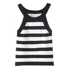 Scoop Neck Slim Stripes Color Block Tank ($11) ❤ liked on Polyvore featuring tops, slimming tank top, stripe tank, scoop neck top, striped top и striped tank top